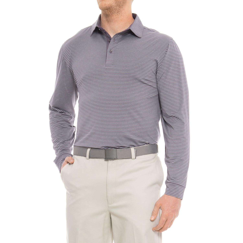 Bobby Jones XH2O Ranger Stripe Golf Polo Shirt - Long Sleeve (For Men)