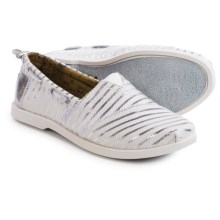 BOBS from Skechers Chill Luxe Beach Club Shoes - Slip-Ons (For Women) in White/Silver - Closeouts