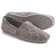BOBS from Skechers Plush Blossom Espidrilles (For Women) in Grey - Closeouts