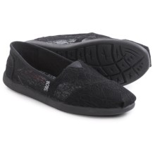 BOBS from Skechers World Delicate Flower Shoes - Slip-Ons (For Women) in Black - Closeouts