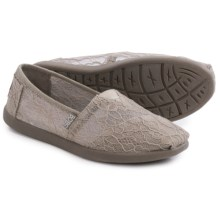 BOBS from Skechers World Delicate Flower Shoes - Slip-Ons (For Women) in Taupe - Closeouts