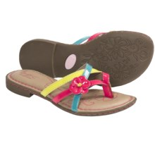 B.O.C. by Born Belinda Sandals (For Girls) in Fuchsia/Turquoise/Lime Patent - Closeouts