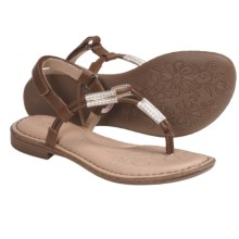 B.O.C. by Born Cersei Thong Sandals (For Girls) in Tan/Gold Smooth - Closeouts