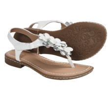 B.O.C. by Born Genevieve II Thong Sandals (For Girls) in White/Silver Metallic - Closeouts