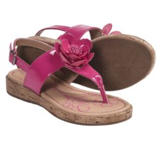 B.O.C. by Born Honey Thong Sandals (For Girls) in Fuchsia Patent - Closeouts