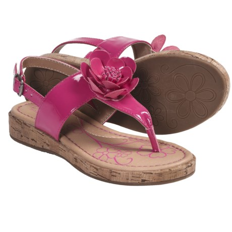 B.O.C. by Born Honey Thong Sandals (For Girls) in Fuchsia Patent