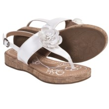 B.O.C. by Born Honey Thong Sandals (For Girls) in White Patent - Closeouts