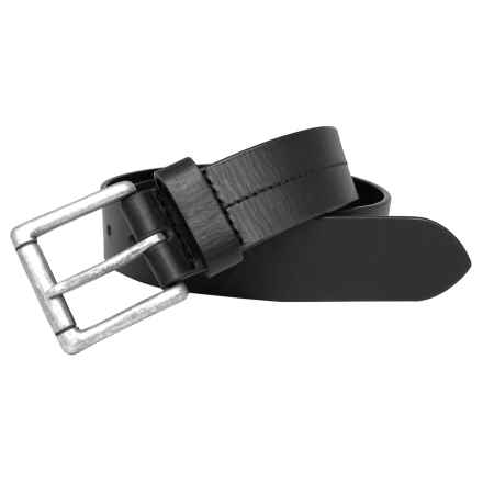 Boconi 35mm Cut-Edge Belt - Leather (For Men) in Black - Closeouts