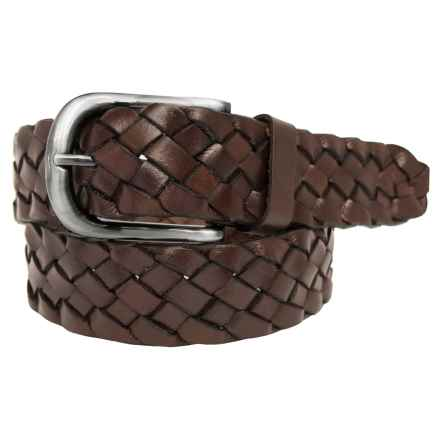 Boconi 40mm Braided Belt - Leather (For Men) in Brown - Closeouts