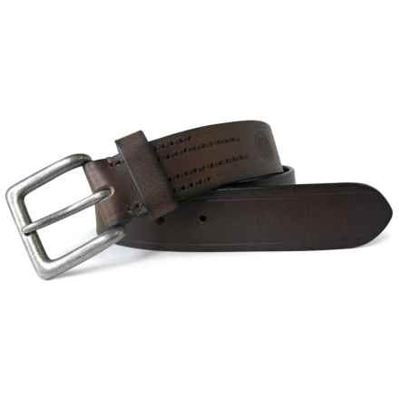 Boconi Burnished Leather Belt (For Men) in Brown - Closeouts