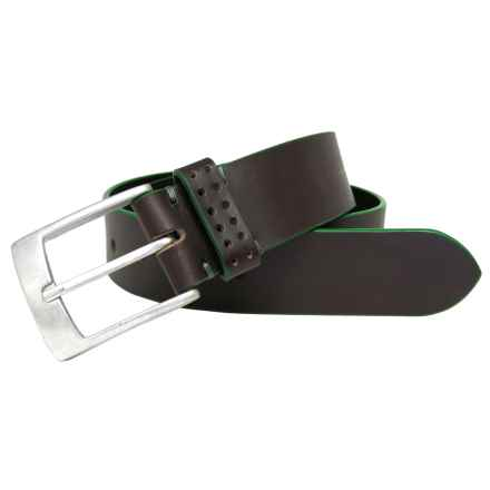 Boconi Jagger Leather Belt (For Men) in Brown - Closeouts