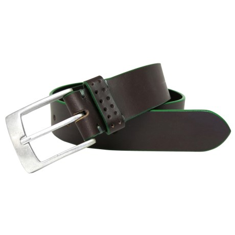 Boconi Jagger Leather Belt (For Men) in Brown