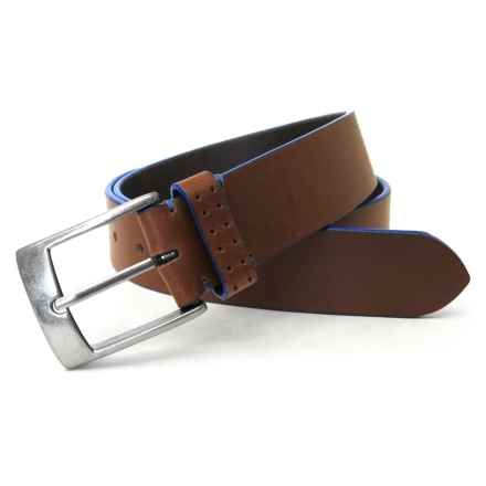 Boconi Jagger Leather Belt (For Men) in Tan - Closeouts