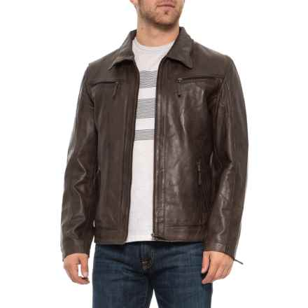 370440ec9dc Bod & Christensen Adel Brown Leather Jacket (For Men) in Brown - Closeouts