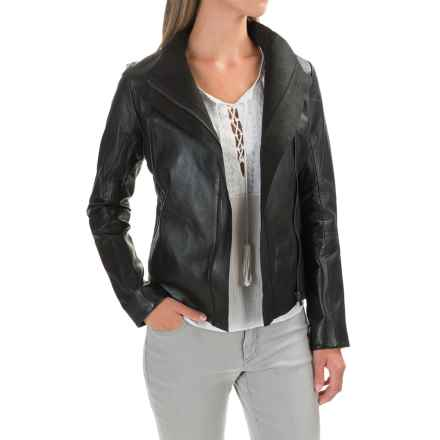 Bod & Christensen Moto Leather Jacket (For Women) in Black - Closeouts