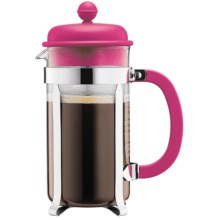 Bodum Caffettiera 8-Cup French Press Coffee Maker - 34 fl.oz., Red in Pink - Closeouts