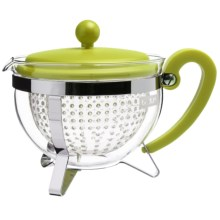 Bodum Chambord Tea Pot - Reusable Filter, 34 fl.oz. in Lime Green - Closeouts