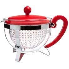 Bodum Chambord Tea Pot - Reusable Filter, 44 fl.oz. in Red - Closeouts
