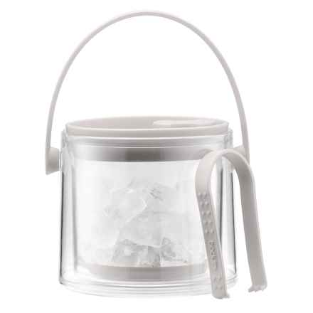 Bodum Cool Ice Bucket with Tongs in White - Closeouts