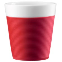 Bodum Mug with Silicone Sleeve - 2-Piece in Red - Closeouts