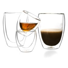 Bodum Pavina Double Wall Glasses - Set of 4 in Clear - Closeouts