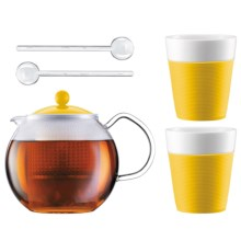 Bodum Tea Press Set - 34 fl.oz. in Yellow - Closeouts