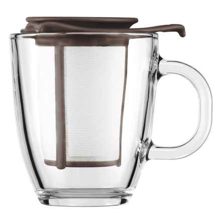 Bodum YO-YO Mug and Tea Infuser Set - 10 fl.oz. in Brown - Closeouts