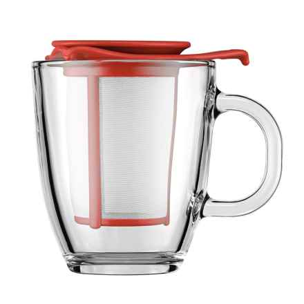Bodum YO-YO Mug and Tea Infuser Set - 10 fl.oz. in Red - Closeouts