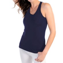 Body Bark Racerback Soft Layering Tank Top (For Women) in Navy - Closeouts