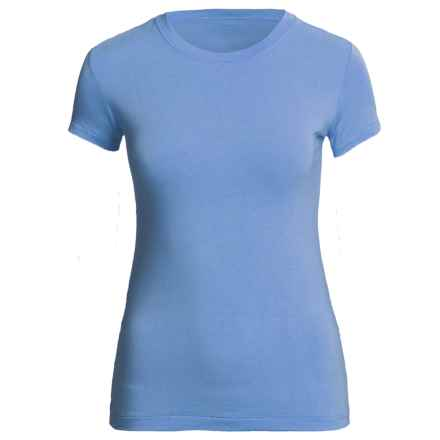 Body Bark  Top - Micromodal®, Crew Neck, Short Sleeve (For Women) in Tropical Blue - Closeouts