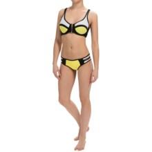 Body Blast 3 Angle Neoprene Bikini Set (For Women) in Yellow - Closeouts