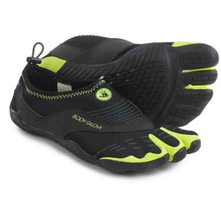 Body Glove 3T Barefoot Cinch Water Shoes (For Men) in Black/Neon Green - Closeouts