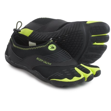 Body Glove 3T Barefoot Cinch Water Shoes (For Men) in Black/Neon Green