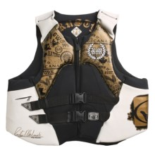 Body Glove 6W Rusty Malinoski Signature PFD Life Jacket - USCG-Approved, Type III (For Men) in Gold/White/Black - Closeouts