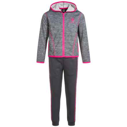 Body Glove Active Hoodie and Pants Active Set (For Little Girls) in Grey - Closeouts
