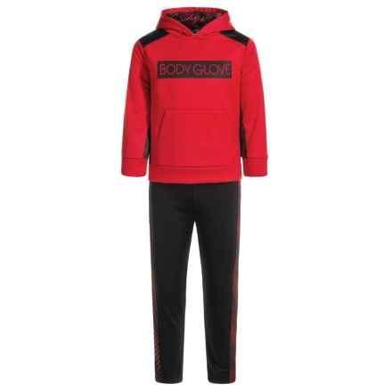 Body Glove Active Hoodie and Pants Set (For Little Boys) in Red/Black - Closeouts