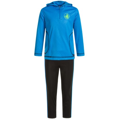 Body Glove Active Hoodie and Pants Set (For Toddlers) in Blue/Black