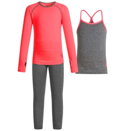 Body Glove Active Set - 3-Piece (For Toddlers) in Pink/Heather Grey