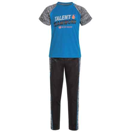 Body Glove Active Set with Two T-Shirts and Pants - 3-Piece (For Little Boys) in Blue/Grey/Black - Closeouts