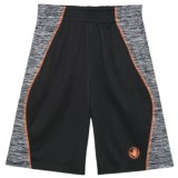 Body Glove Active Shorts - Black with Orange Stripe (For Big Boys)