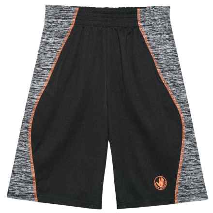 Body Glove Active Shorts - Black with Orange Stripe (For Big Boys) in Black - Closeouts