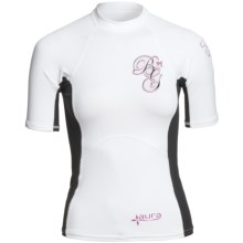 Body Glove Aura Rash Guard - UPF 50, Short Sleeve (For Women) in White/Black - Closeouts