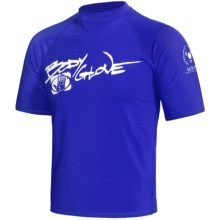 Body Glove Basic 6 oz. Lycra® Rash Guard - Short Sleeve (For Men) in Royal - Closeouts
