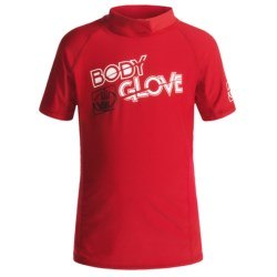 Body Glove Basic Junior Rash Guard - UPF 50+, Short Sleeve (For Kids and Youth) in White