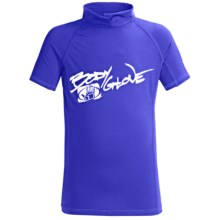 Body Glove Basic Rashguard - Short Sleeve (For Toddler, Kids and Youth) in Royal - Closeouts