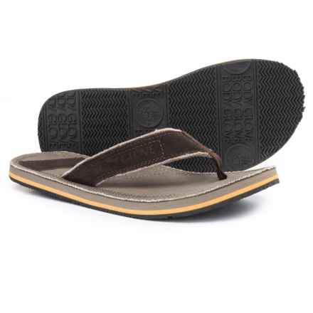 Body Glove Bridgeport Flip-Flops (For Men) in Khaki/Brown - Closeouts