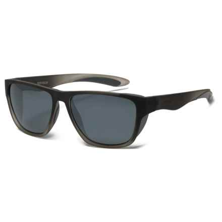 Body Glove Brosef Sunglasses - Polarized in Clear/Grey/Smoke - Closeouts