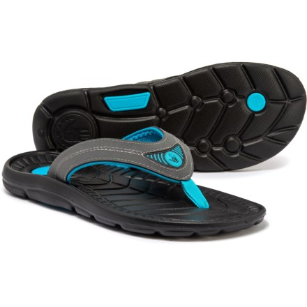 1766245717cc Body Glove Burst Flip-Flops (For Men) in Black Neon Blue