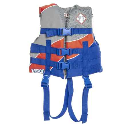 Body Glove Child Vision Type III PFD Life Jacket (For Youth and Kids) in Silver Gray/Tangerine/Blue - Overstock