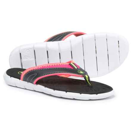 Body Glove Cozy Flip-Flops (For Women) in White/Dark Shadow - Closeouts